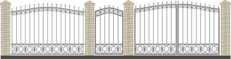 schita gard si porti din fier forjat 10