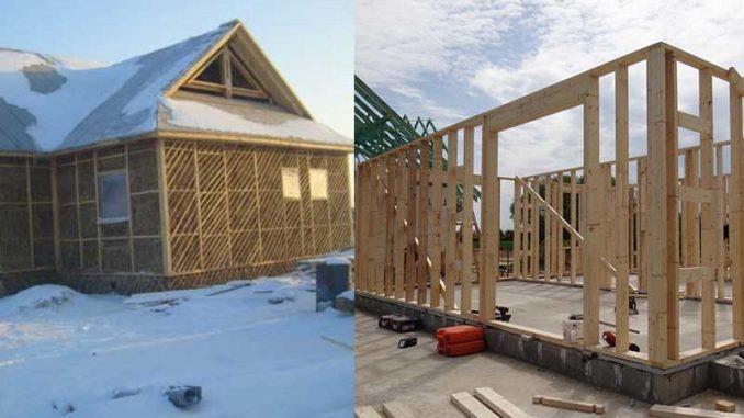 casa din lemn sau casa din lut