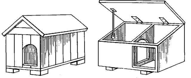 cusca caine cu acoperis detasabil