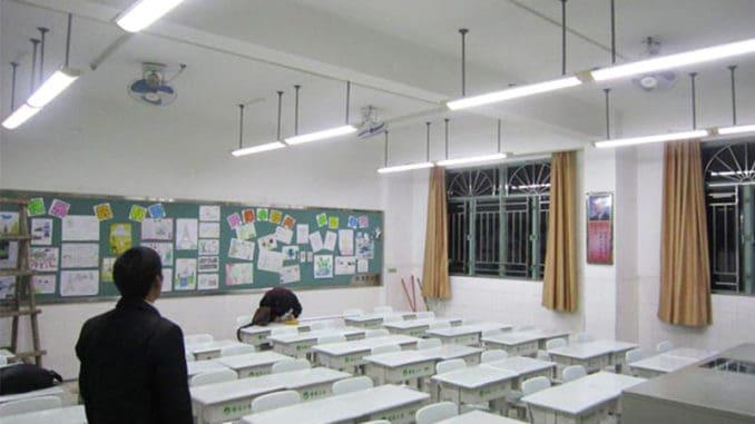 corpuri de iluminat in scoli
