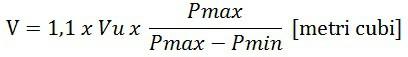 formula calcul volum vas de expansiune inchis