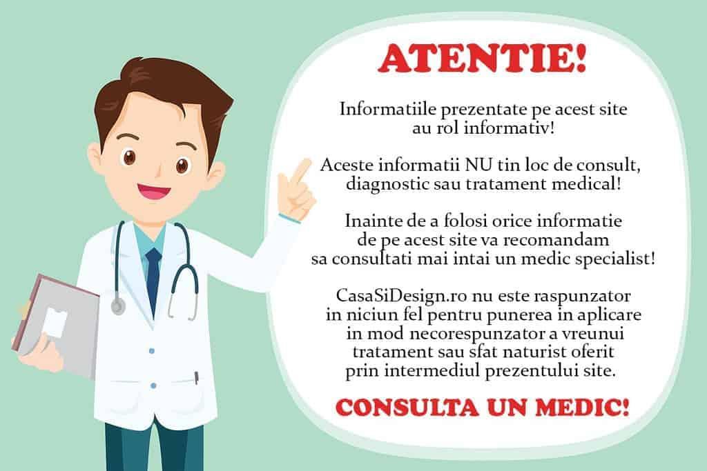 Disclaimer CasaSiDesign consulta un medic