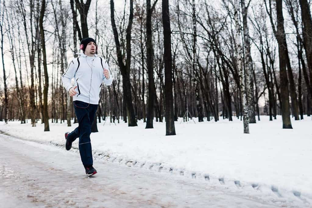 jogging pe zapada
