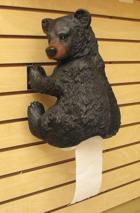 suport hartie igienica in forma de urs