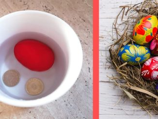 traditii de paste cana cu apa ou rosu si banuti