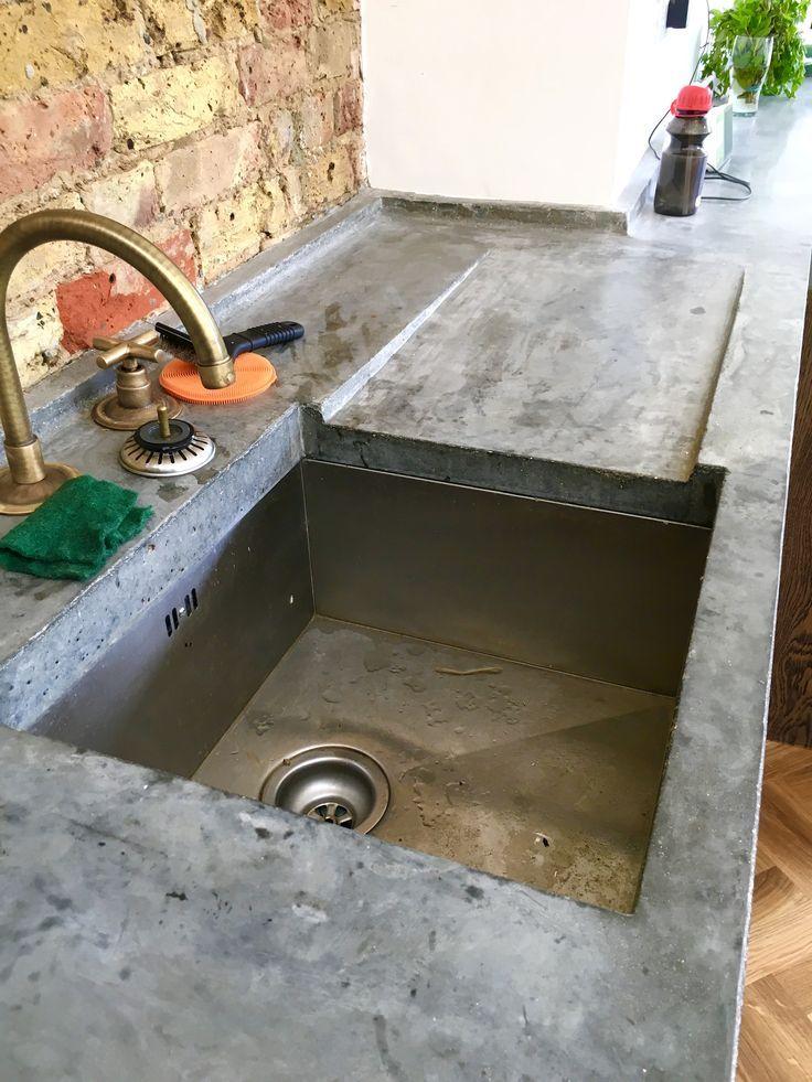 blat bucatarie din beton