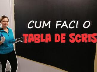cum sa faci o tabla de scris pentru copii pe perete