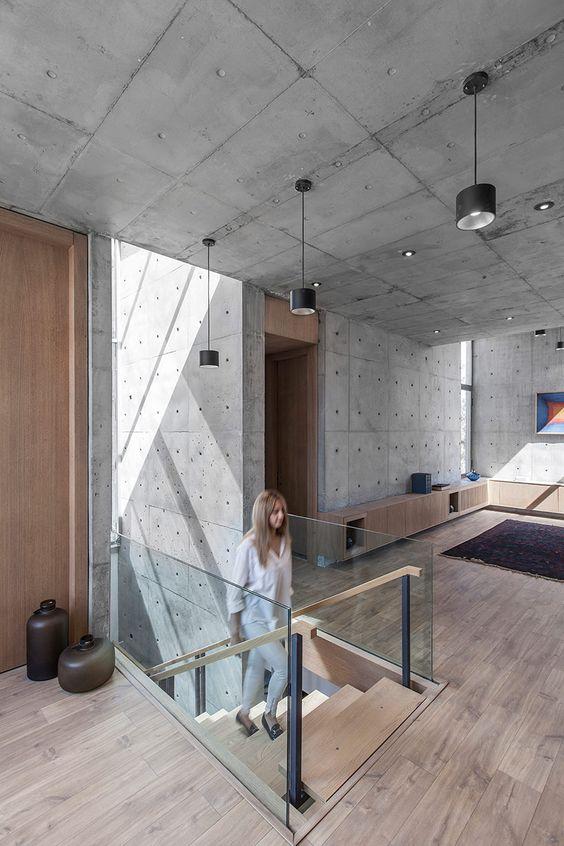 finisaj tavan din beton brut