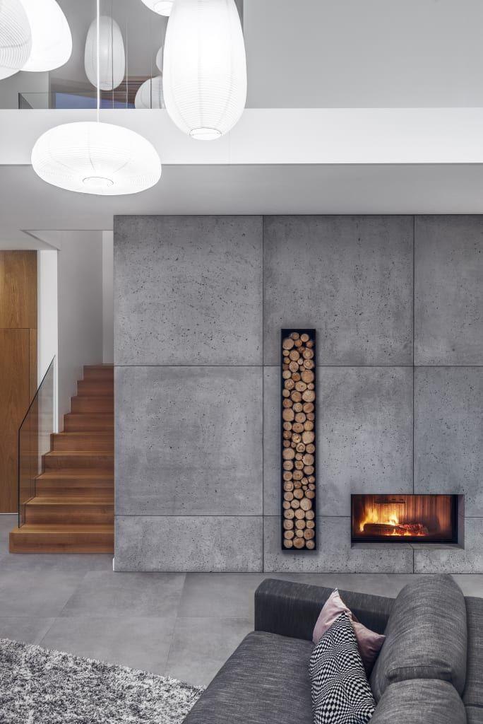 perete cu finisaj din beton