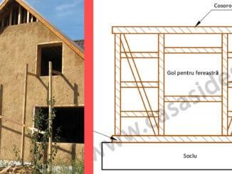 constructie case din paianta