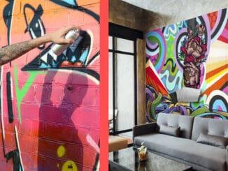 graffiti pe perete interior