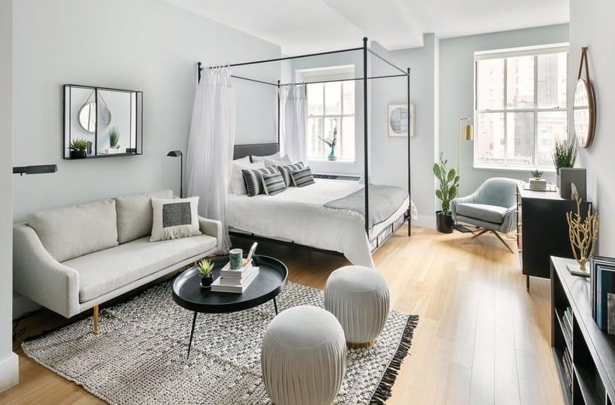 1. apartament tip studio alb