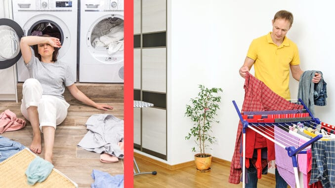unde sa usuc rufele in apartament